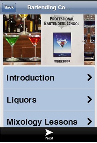 Bartender course app